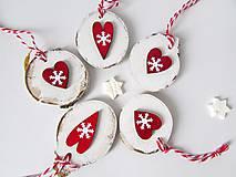 Dekorácie - Vianočné odzoby so srdiečkom - 8864650_