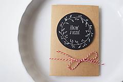 Papiernictvo - Vianočná pohľadnica // Šťastné a veselé - 8865556_