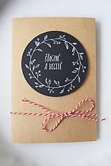 Papiernictvo - Vianočná pohľadnica // Šťastné a veselé - 8865558_