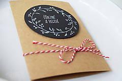Papiernictvo - Vianočná pohľadnica // Šťastné a veselé - 8865562_