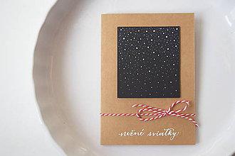 Papiernictvo - Vianočná pohľadnica // Nežné sviatky - 8864937_