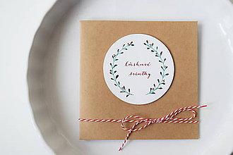 Papiernictvo - Vianočná pohľadnica // Láskavé sviatky - 8865661_
