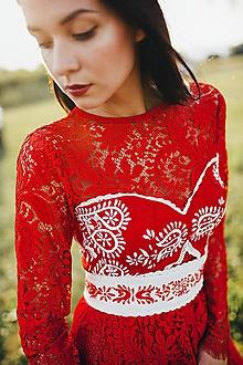 Šaty - Zľava -35%Červené šaty Slavianka - 8866375_
