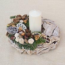 Dekorácie - Prírodný vianočný veniec s limetkou - 8862361_