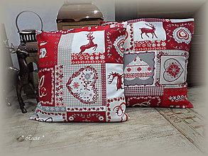 Úžitkový textil - Vianočné obliečky so sobom či jelenčokom :) - 8867260_