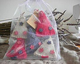 Dekorácie - Vianočná sada stromčekov s vôňou levandule - 8866013_