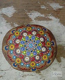 Dekorácie - Pestrofarebný - Na kameni maľované - 8862334_