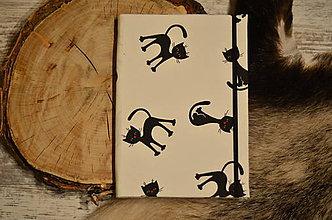 Na tablet - Obal na čítačku alebo tablet - #33 látka biela s mačkami - 8868060_