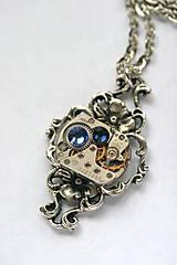 Náhrdelníky - Steampunkový filigránový náhrdelník  - 8867856_