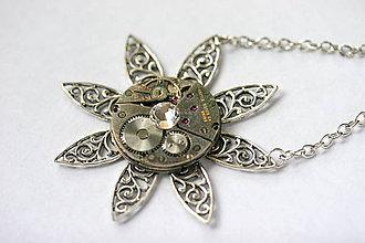 Náhrdelníky - Steampunkový náhrdelník Hviezda - 8867832_