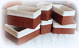 Košíky - Košík čokoládovo hnedý 1 - 8862808_