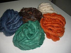 Materiál ručne robený - Pradená ovčia vlna - 8866287_