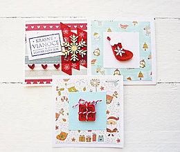 Papiernictvo - sada vianočných minipohľadníc - 8864477_
