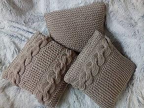 Úžitkový textil - Hnedé vankúše - 8865571_