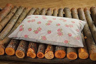 Úžitkový textil - Špaldový vankúš s levanduľou 20 x 30 cm - 8864438_
