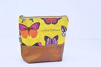 Taštičky - MiniSabba - motýľová kozmetická - 8871033_