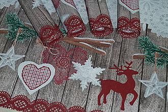 Úžitkový textil - Prestieranie Vianočná čipka - 8872791_