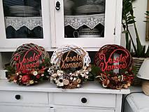 Dekorácie - Vianočný veniec - hnedý - 8868879_
