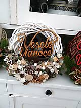 Dekorácie - Vianočný veniec biely - 8868949_