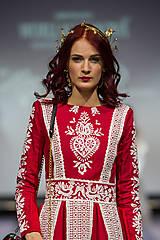 Náušnice - Mosadzné dlhé kvetinové náušnice - Slavianka - 8868673_