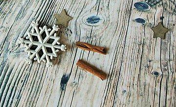 Polotovary - snehová vločka (sivá vločka) - 8869772_