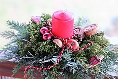 Dekorácie - Vianočný aranžmán - 8869006_