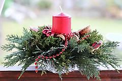 Dekorácie - Vianočný aranžmán - 8869010_