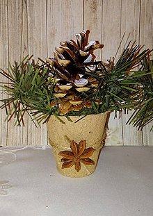 Dekorácie - vianočná dekorácia natur - 8872535_