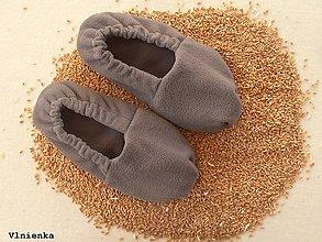 Obuv - Vyhrievané papuče /Papuče na ohrievanie v mikrovlnke TERMOFOR na nohy z obilia - 8873302_