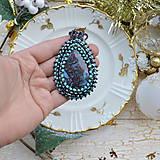 Náhrdelníky - Jaspisový n.4 - šitý náhrdelník - 8869228_