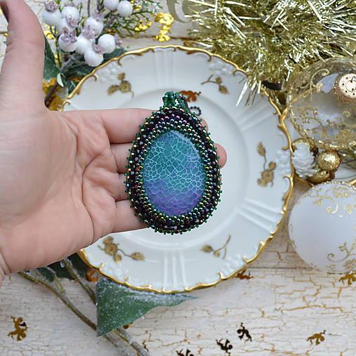 Achátový n.8 šitý náhrdelník