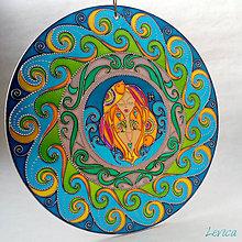 Dekorácie - Mandala RYBY-PISCES (Z Kolekcie