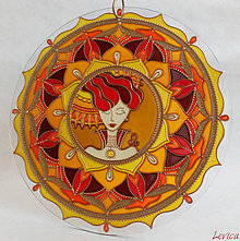 Dekorácie - Mandala LEV-LEO ( Z kolekcie