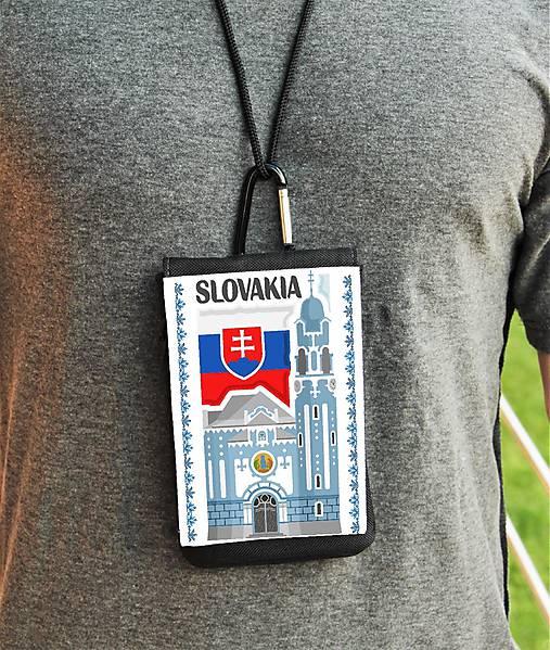 Univerzálne púzdro na mobil Slovensko modrý kostol