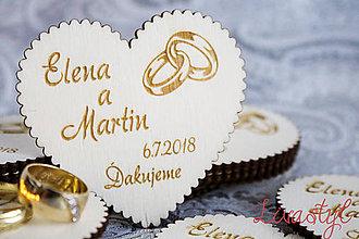Magnetky - Magnetky pre svadobčanov - 8869341_