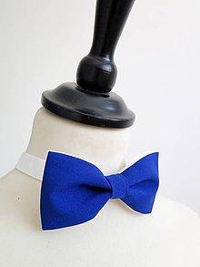 Doplnky - pánsky elegantný modrý motýlik - 8868793_