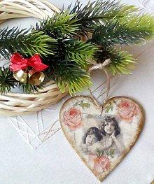 Dekorácie - Vianočné srdiečko - 8870603_