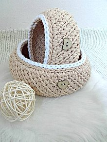 Košíky - Košíky Natur set - 8869642_