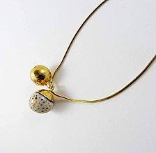 Náhrdelníky - Tana šperky - keramika/zlato - 8870079_