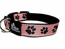 Pre zvieratká - Ružový obojok Čierna labka - 8871284_