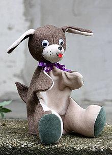 Hračky - Maňuška. Zvieratko Pes Filipes - 8871864_