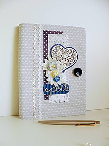 Papiernictvo - Svadobná kniha hostí - Kráľovská modrá - 8873510_