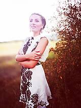Šaty - Ľanové krátke šaty Slavianka - 8870627_