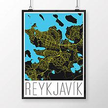 Obrazy - REYKJAVÍK, moderný, čierny - 8872946_