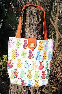Detské tašky - Taška pro malé slečny- Kočičí 1. - 8869543_
