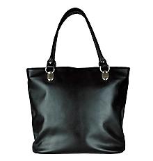 Veľké tašky - Kabelka z prírodnej hovädzej usne, čierna farba - 8870019_