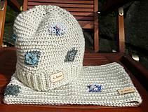 Detské čiapky - Béžová vlnená čiapka s patentom - 8872254_