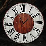 Hodiny - Veľké drevené 110 cm hodiny № 26 - 8868076_