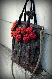 Veľké tašky - Hodvábno-vlnená kabelka plná energie - 8872913_