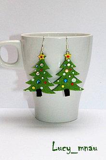 Náušnice - Náušničky vianočné stromčeky :) - 8870795_